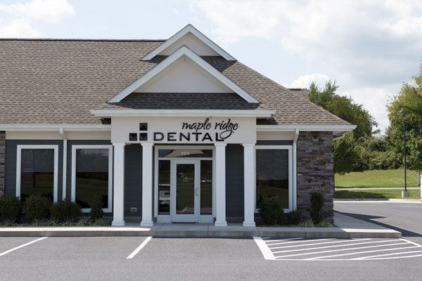 The front exterior of Maple Ridge Dental.