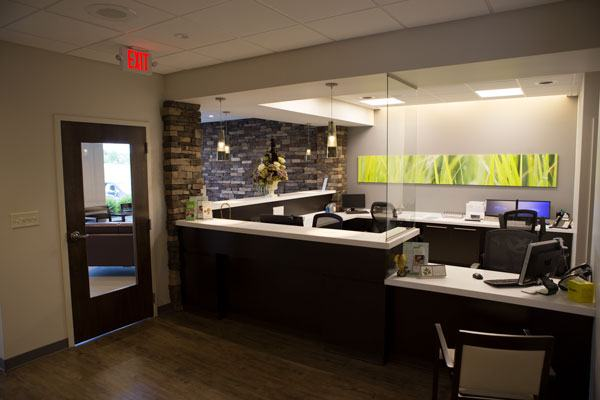The reception area at Maple Ridge Dental.
